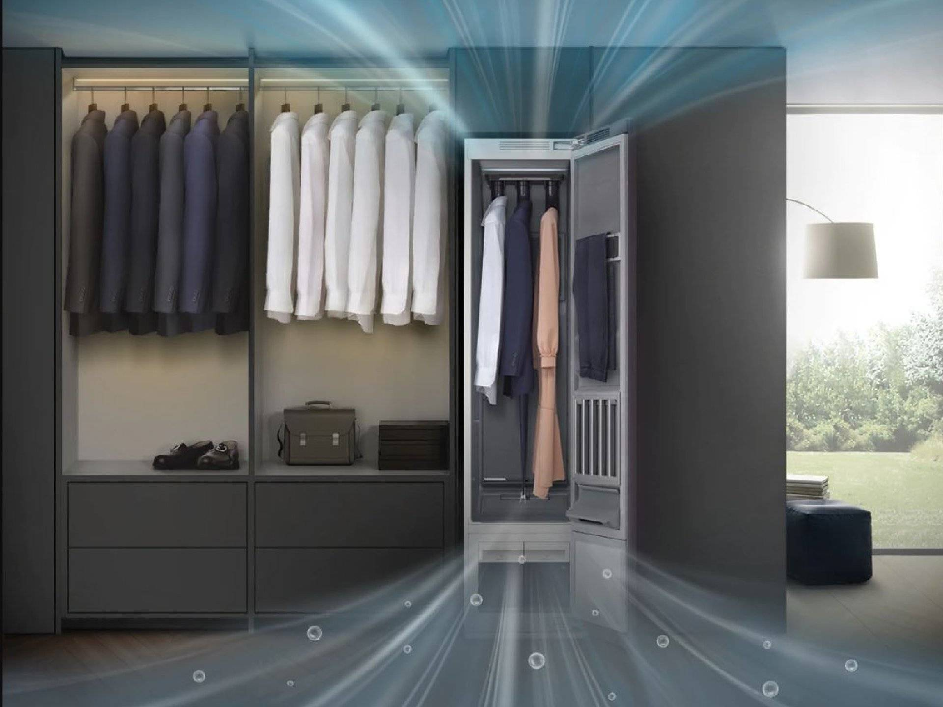 AirDresser™ Samsung igienizza e rinfresca gli abiti con un click!